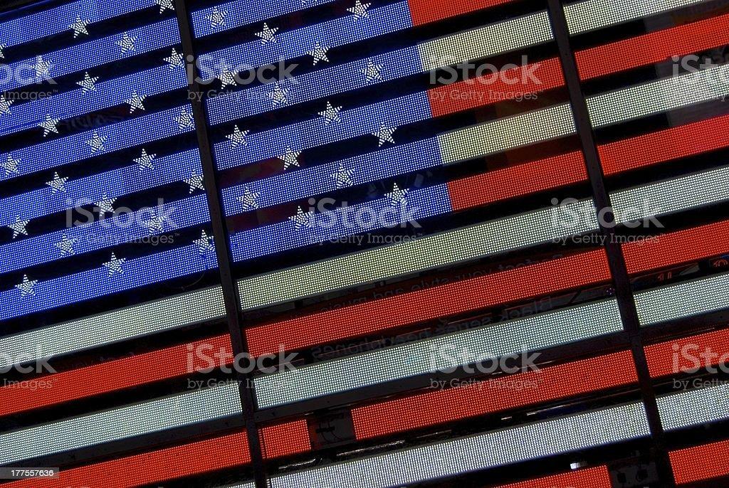 Iluminado bandera EEUU. - foto de stock