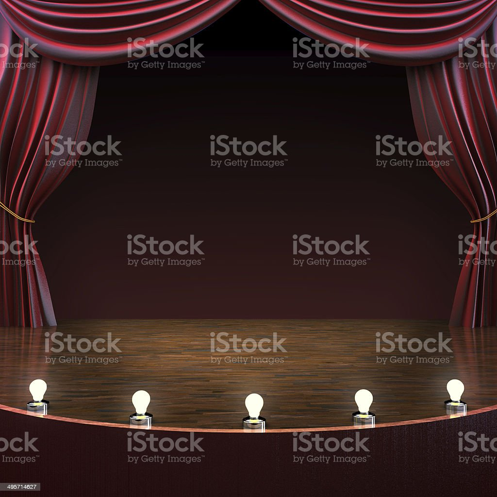 Lighted stage background stock photo