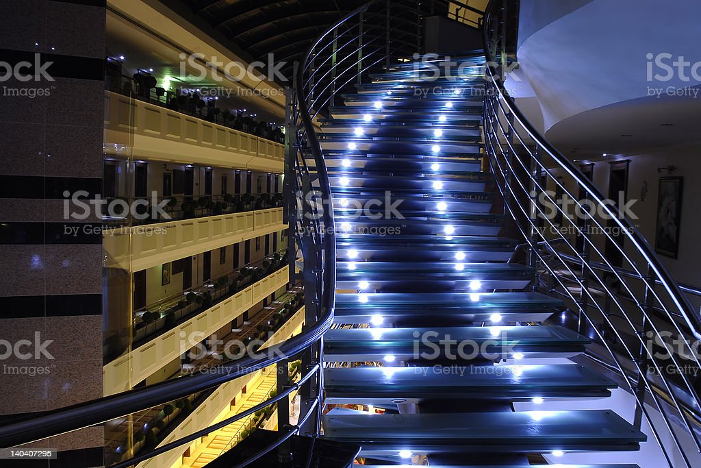 lighted stairs royalty-free stock photo