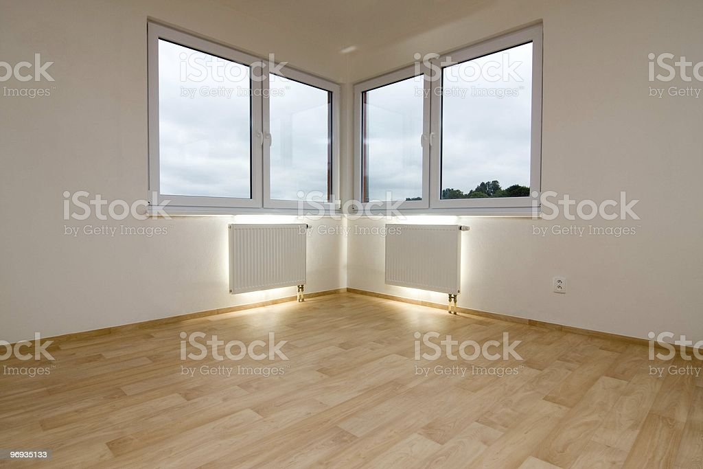 Lighted wall radiators royalty-free stock photo