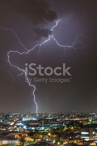 istock Lightening Storm Night Rays 935761206