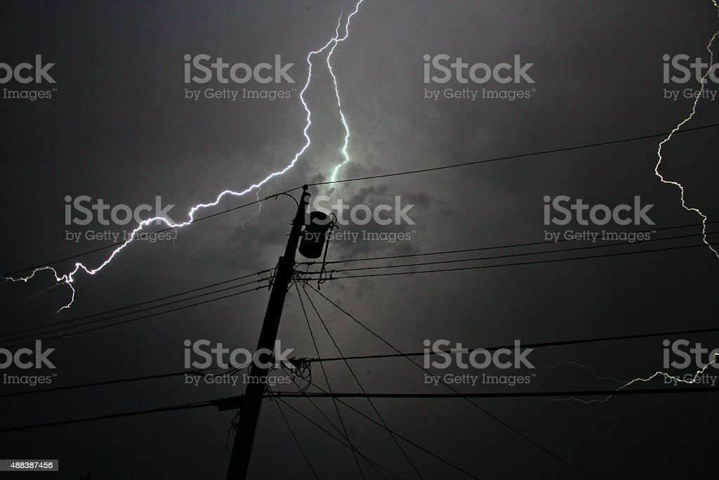 Lightening Strike stock photo
