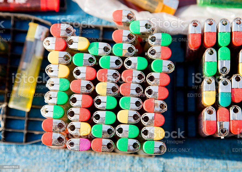 Lighters for sale stock photo
