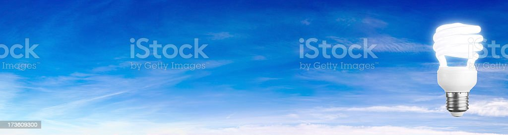 Lightglobe on Blue Sky Banner royalty-free stock photo