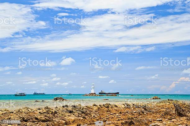 Lighthouse in Gulf of Thailand