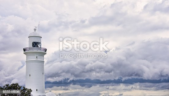 istock Lighthouse and bad weather in background 655548696