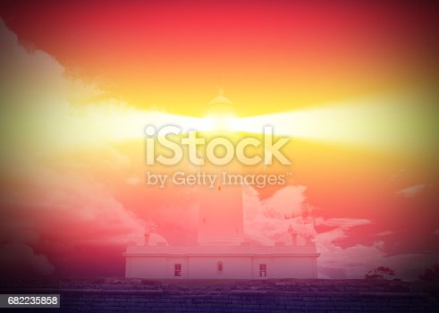 istock Lighthouse and bad weather in background 682235858