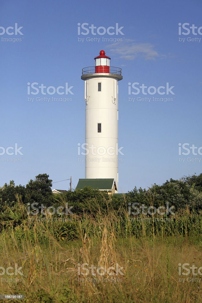 Lighthouse and Blue Skies Portrait royalty-free stock photo