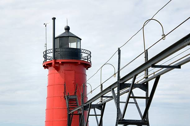 Lighthouse and Catwalk stock photo