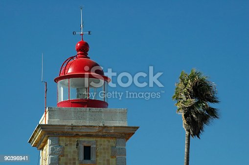 615497916 istock photo Lighthouse and palm 90396941