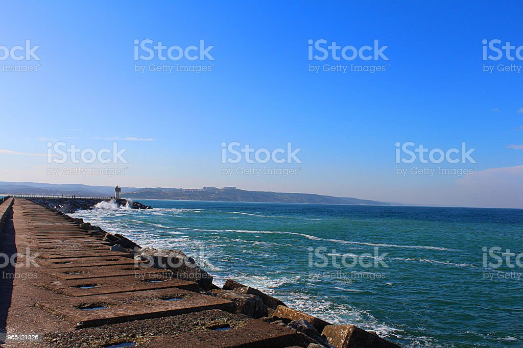 Lighthouse and sea zbiór zdjęć royalty-free