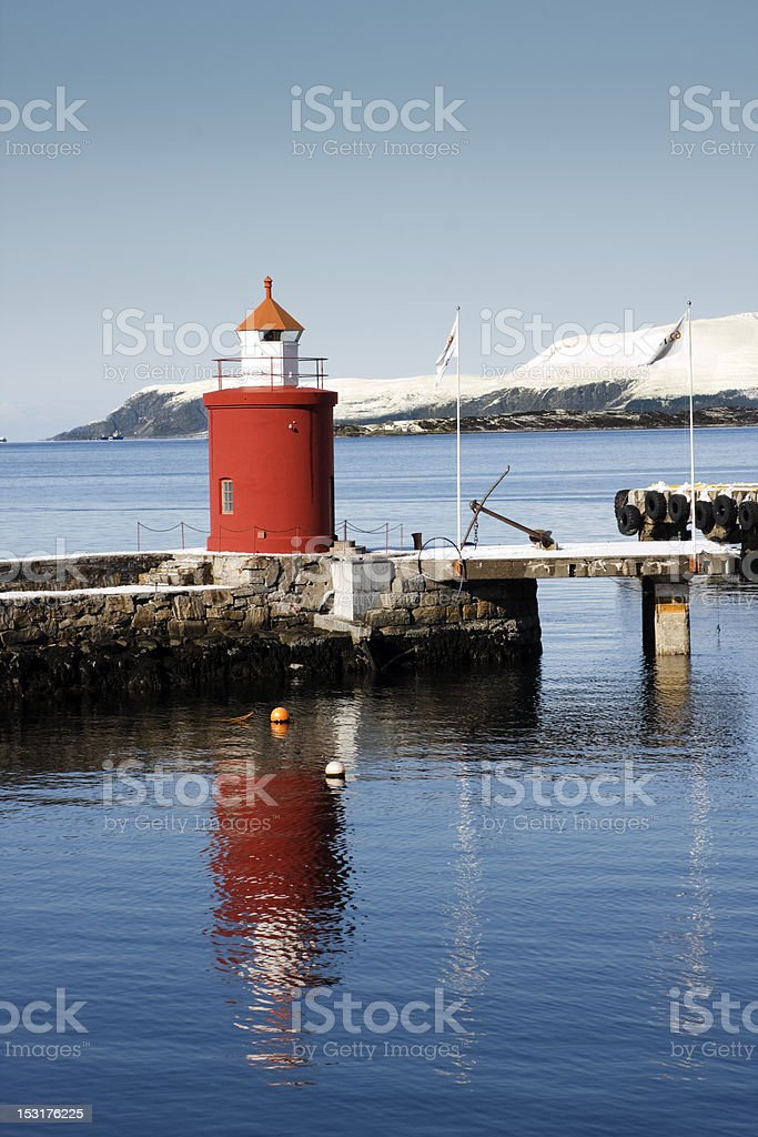 Lighthouse at Alesund, Norway stock photo