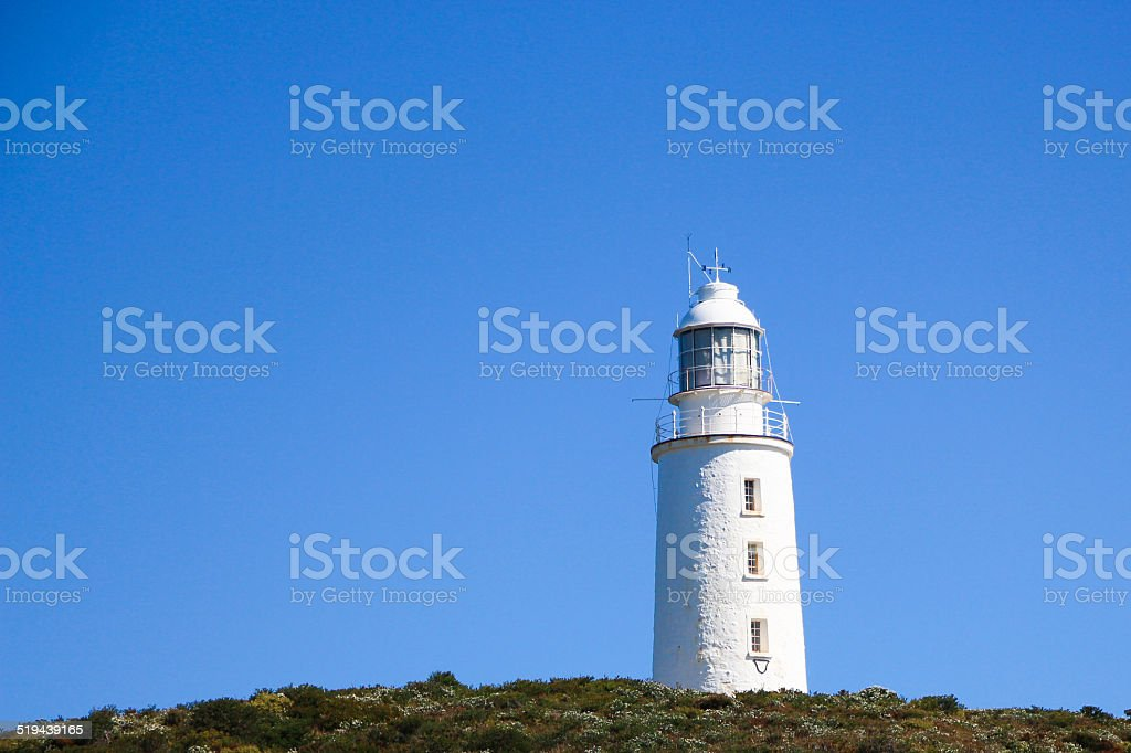 Lighthouse at Cape Bruny stock photo