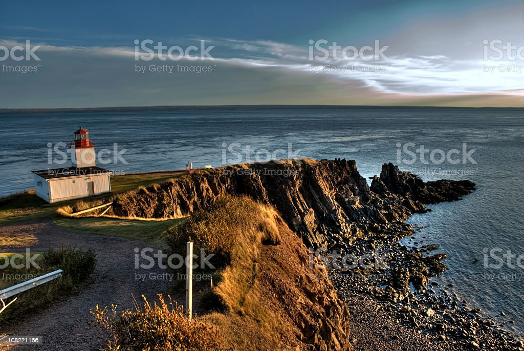 Lighthouse at Cape D'Or, Advocate, Nova Scotia royalty-free stock photo