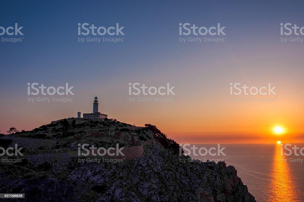 Lighthouse at Cape Formentor, Majorca, Spain stock photo