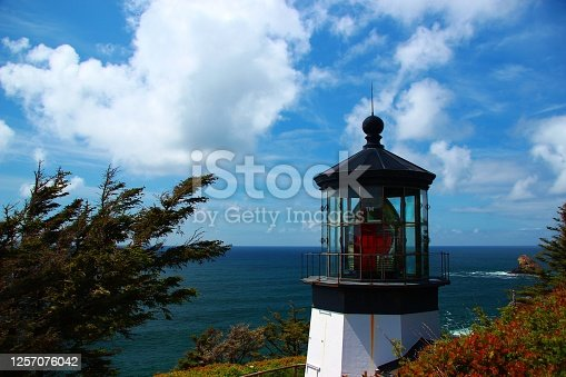 Lighthouse at Cape Meares State park on the Oregon coast