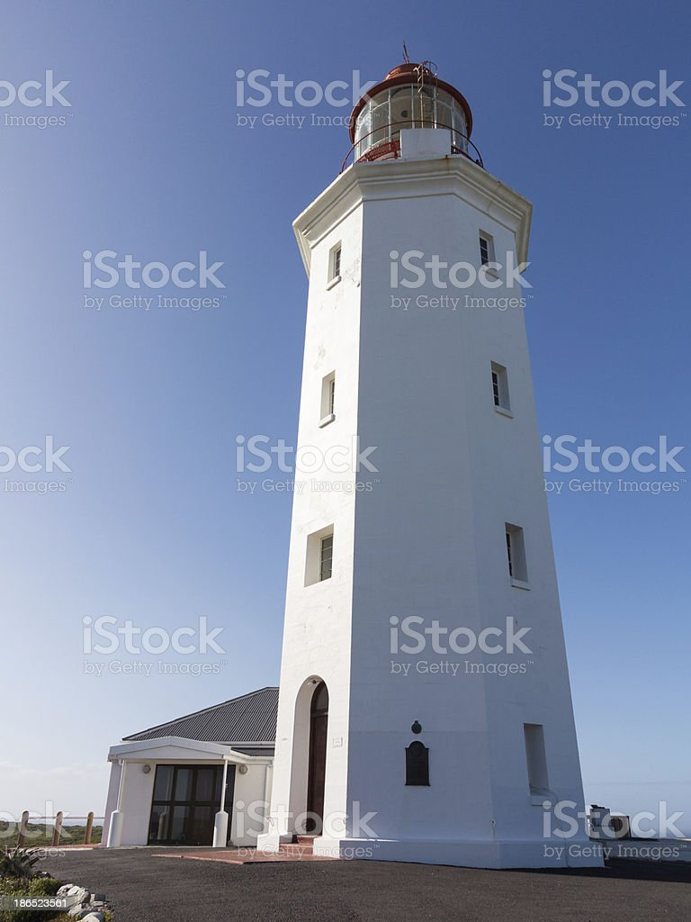 Lighthouse at Danger Point South Africa royalty-free stock photo