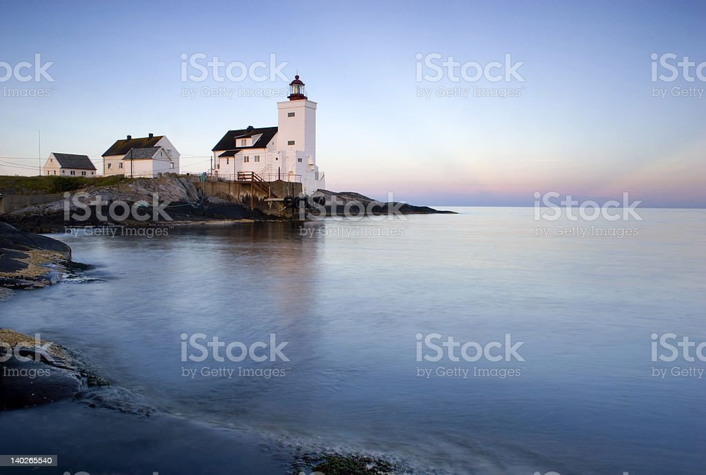 Lighthouse at dawn 2 royalty-free stock photo