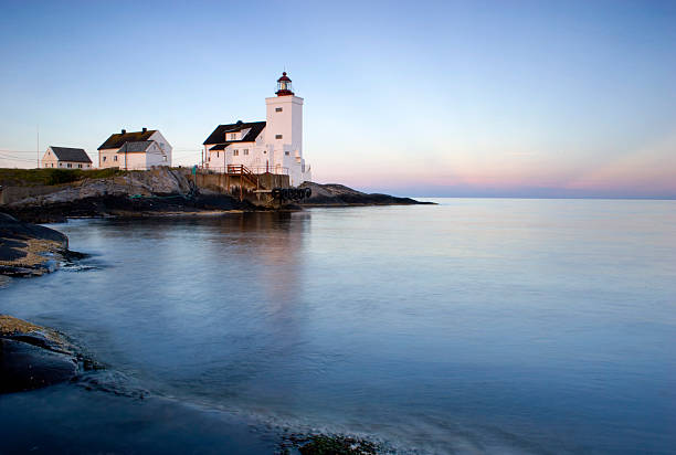 Lighthouse at dawn 2 stock photo