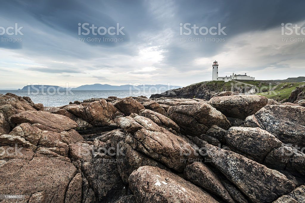 Lighthouse at Fanad Head on the north coast of Donegal royalty-free stock photo
