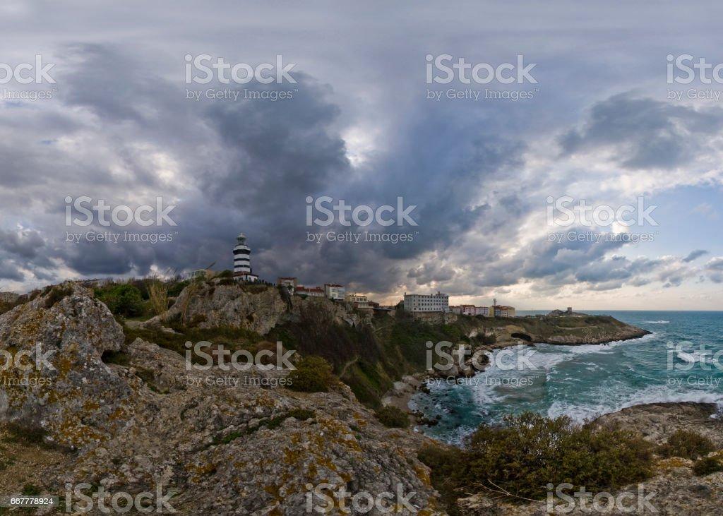 Lighthouse at Istanbul Turkey stock photo