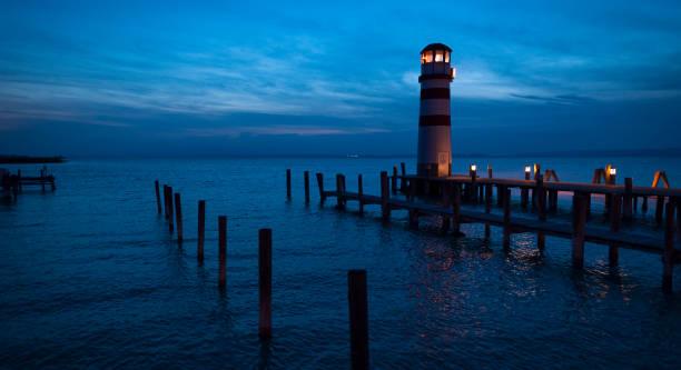 Lighthouse at Lake Neusiedl stock photo