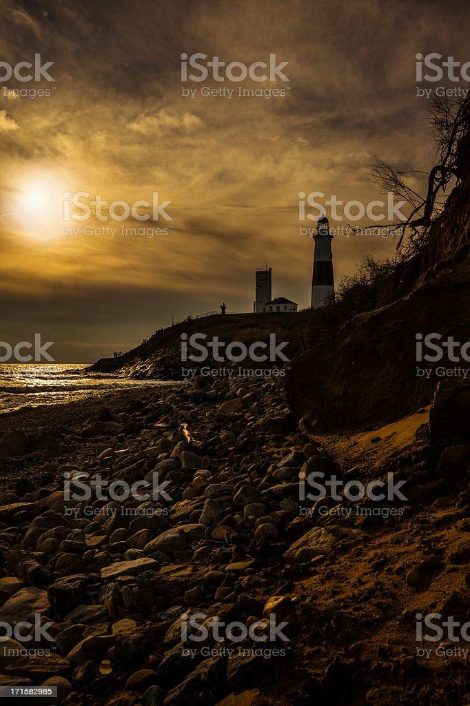 Lighthouse at Montauk point, Long Islans. royalty-free stock photo