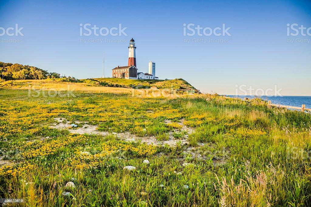 Lighthouse at Montauk point, Long Islans royalty-free stock photo