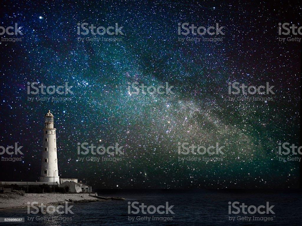 Leuchtturm bei Nacht – Foto