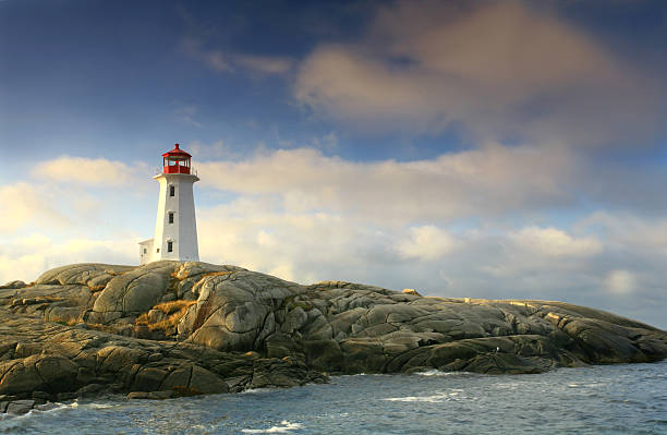 Lighthouse at Peggy's Cove stock photo