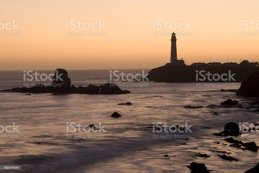 Lighthouse at Pigeon Point California stock photo