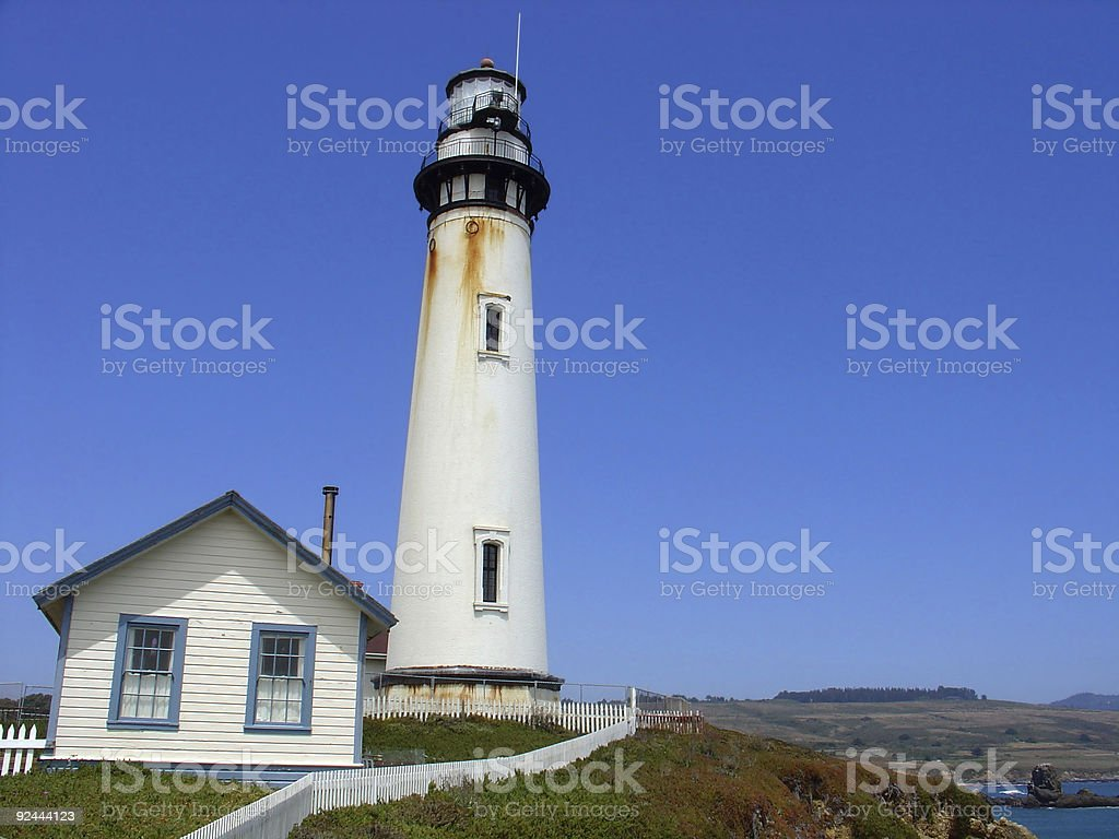 Lighthouse at Pigeon Point, California royalty-free stock photo