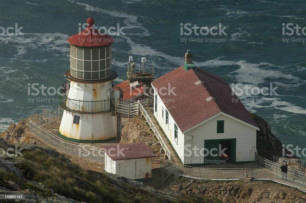 Lighthouse at Pt. Reyes stock photo