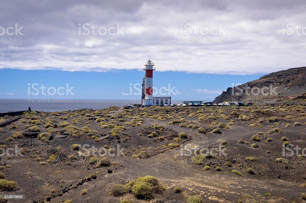 Lighthouse at Punta Fuencaliente stock photo