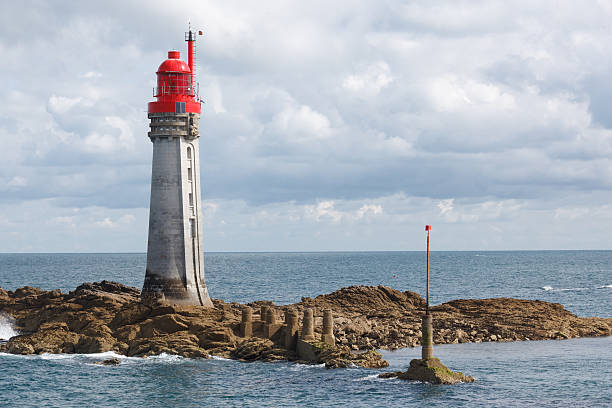 Lighthouse at St Malo, France stock photo