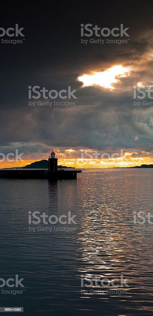 Lighthouse at sundown royalty-free stock photo