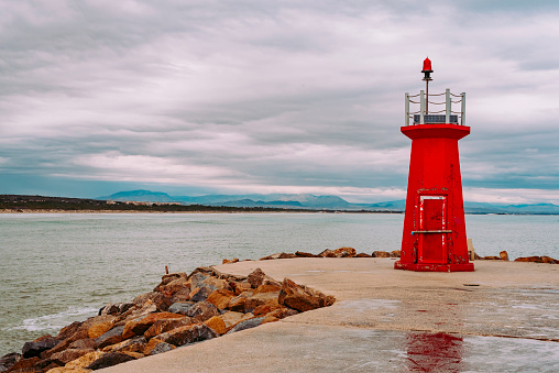 Lighthouse at the end of the breakwater
