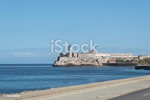 Castillo del Morro, fortress built by the Spanish empire at the entrance to the port of Havana. Cuba