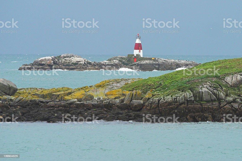 Lighthouse at the Irish Sea royalty-free stock photo