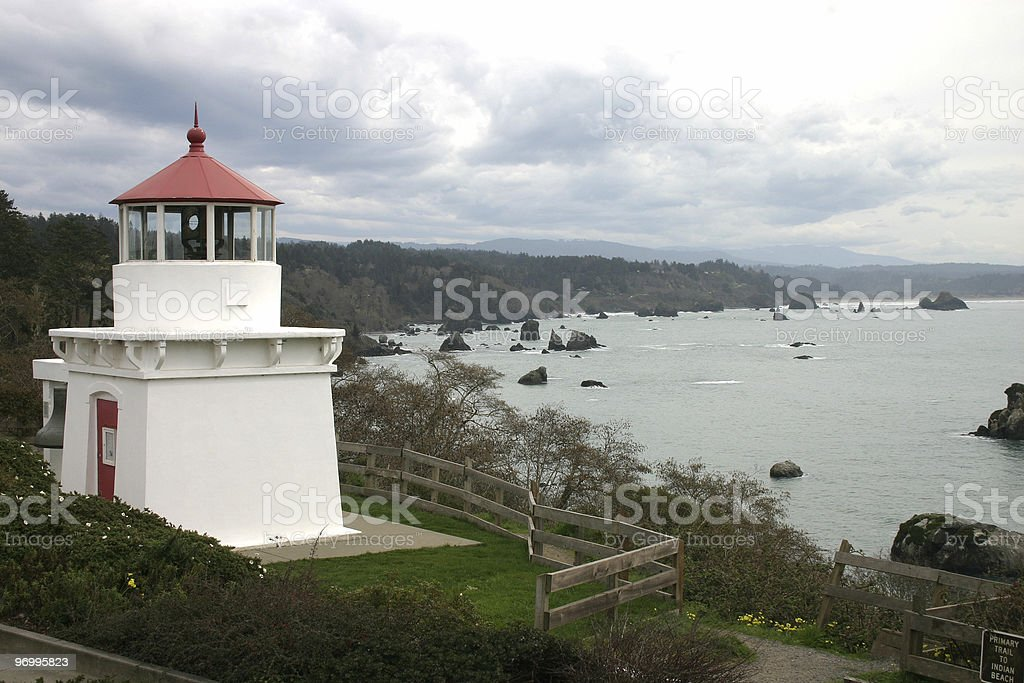 lighthouse at Trinidad,northern California royalty-free stock photo