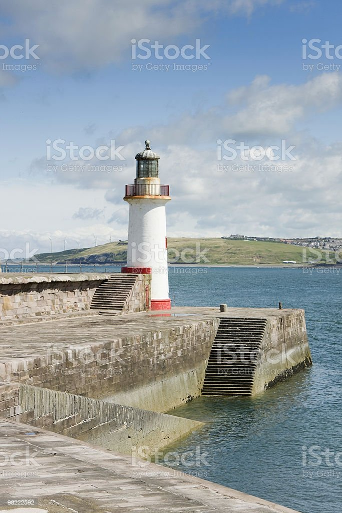 Lighthouse at Whitehaven Harbour royalty-free stock photo