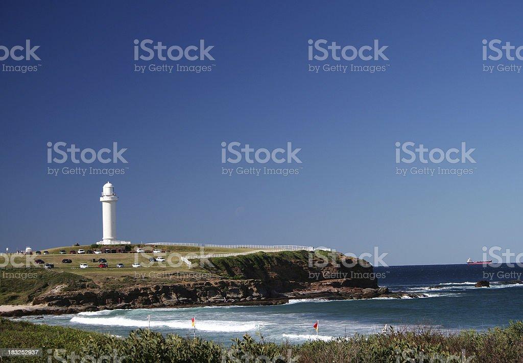 Lighthouse at Wollongong royalty-free stock photo