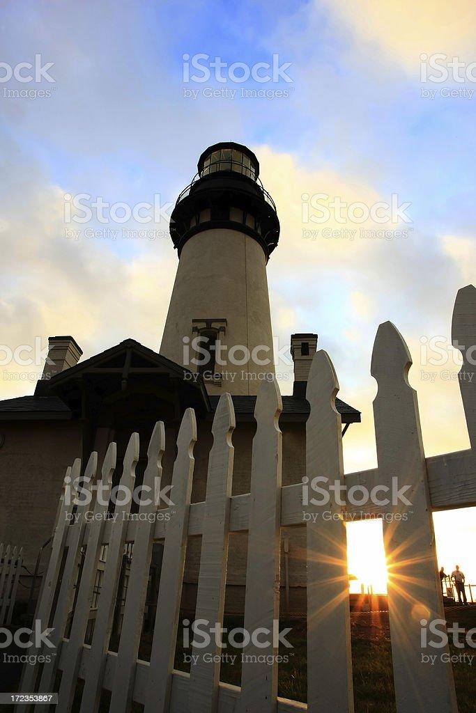 Lighthouse at Yaquina royalty-free stock photo