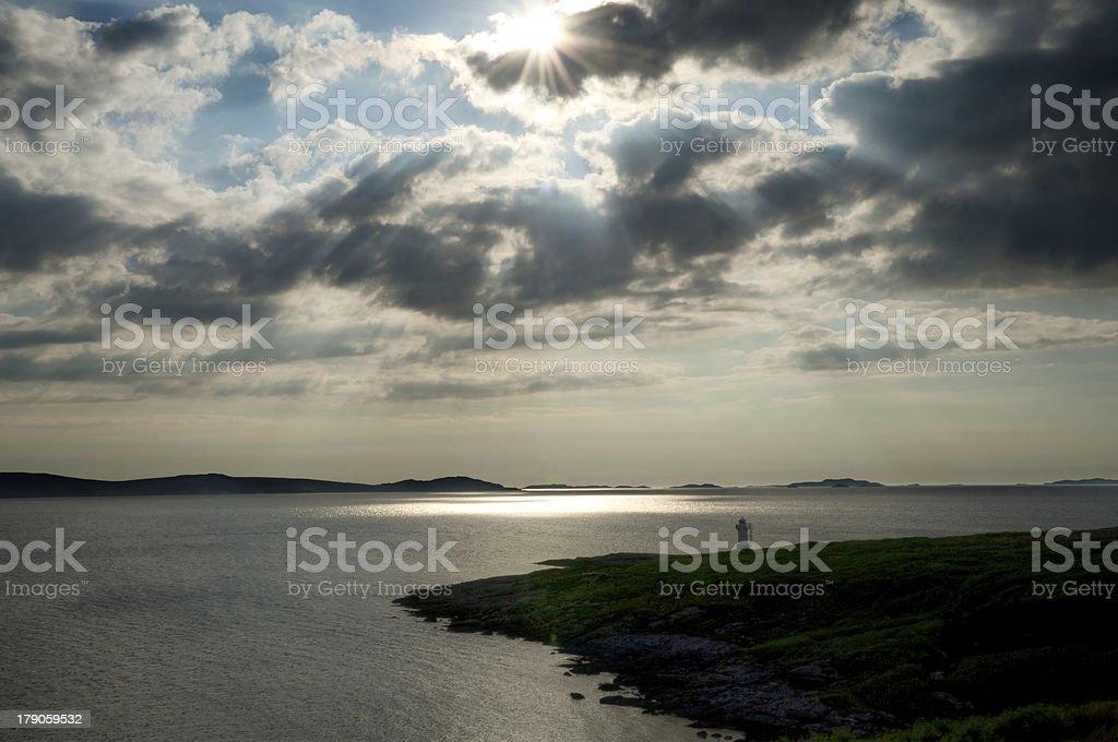 lighthouse backlit royalty-free stock photo