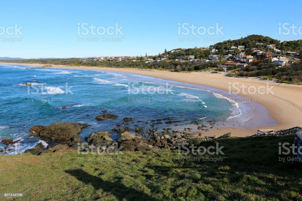 Lighthouse Beach at Port Macquarie stock photo
