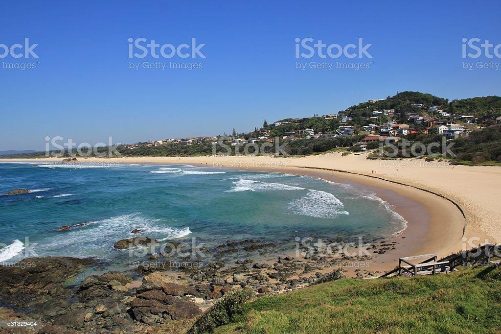 Lighthouse Beach, beach in Port Macquarie stock photo