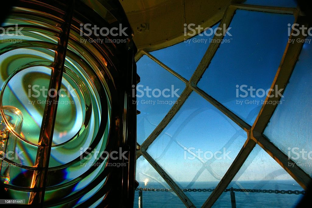Lighthouse Beacon Palos Verdes California stock photo