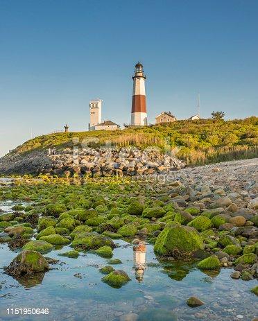 Long Island, New York State, USA, Lighthouse, Beach