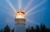 灯台ビームズ照明をレインストーム海のマリンランド