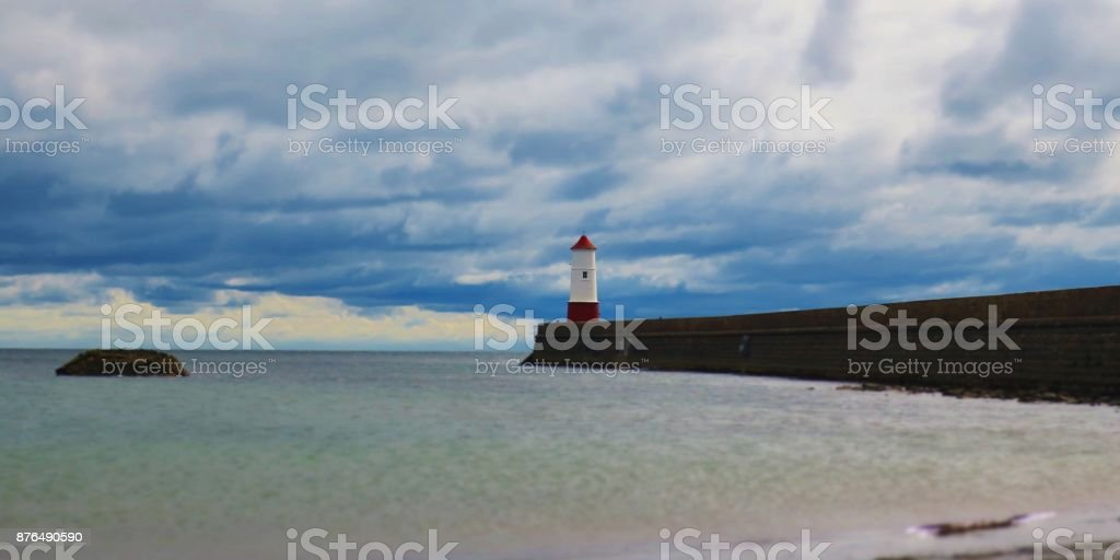 Lighthouse, Berwick Upon Tweed stock photo